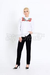 Блуза з маками  фото