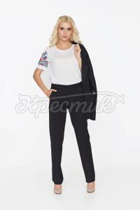 Класичні брюки прямого крою фото