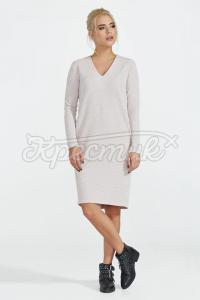 Трикотажна сукня з вирізом   фото