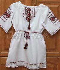Дитяче плаття на короткий рукав ручної вишивки фото