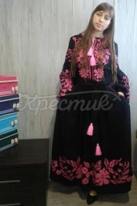 """Квіткова сукня вишиванка в стилі бохо """"Амелі"""" фото"""