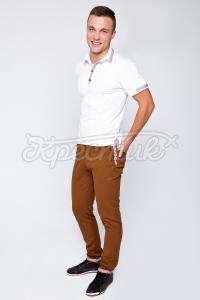 Коричневые брюки в украинском стиле