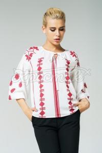 Жіноча легка блуза з красивим орнаментом фото