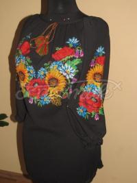 """Жіноча вишита сукня """"Соняшники"""" купити"""