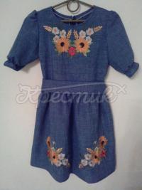 Дитяча вишита сукня Соняшники купити