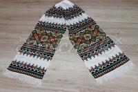 Весільний рушник з красивою ручною вишивкою фото