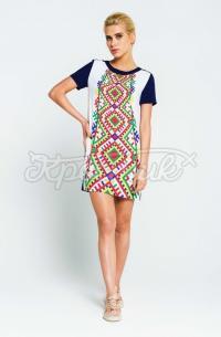 Жіноча літня сукня ромби фото