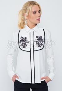"""Блуза в українському стилі біла """"Петриківка"""" фото"""