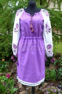 """Вишите українське плаття """"Фіалки"""" купити"""