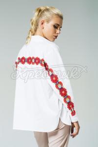 """Жіноча сорочка """"Борщевские квіти"""" фото"""