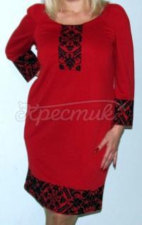 """Жіноча вишита сукня """" Класика в червоній купити"""