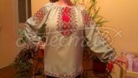 """Женская вышиванка """"Красно-желтая"""" фото"""