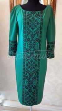 """Жіноча вишита сукня """" Класика в зеленій"""" купити"""
