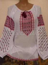 Купити блузку з шифону з вишивкою
