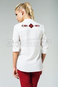 Жіноча сорочка з орнаментом на спині фото