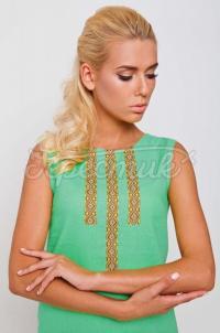 Украинское платье из льна с вышивкой купить