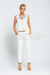 """Жіноча блузка в українському стилі """"Ромби"""" фото"""