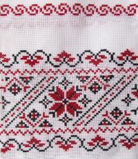 Український рушник з ручною вишивкою на весілля купити