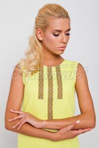 """Красива літня жіноча сукня """"Жовта квіточка"""" фото"""