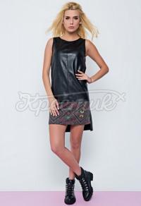 Плаття в українському стилі з еко-шкіри фото
