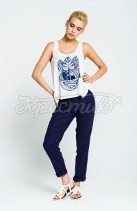 Літні сині жіночі штани  фото