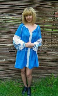 Женское вышитое платье Небеса купить