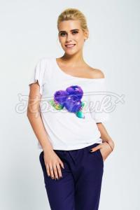 Жіноча літня футболка чорничка фото