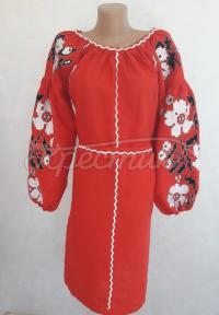 """Женское вышитое платье """" Цветочная"""" купить"""