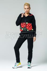 """Жіночий спортивний костюм """" Петриківські квіти"""" фото"""