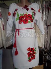 """Жіноча вишита сукня """" Червоні макі"""" 2 купити"""