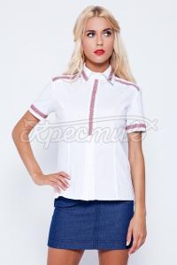 Жіноча офісна блузка вишиванка купити Київ.