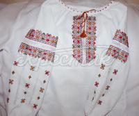 """Детская блузка вышиванка """"Яркая геометрия"""" фото"""