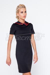 Елегантне чорне українське плаття з вишивкою замовити Київ