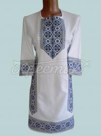 """Українська сукня з вишивкою """"Синій алатырь"""" фото хрестик"""