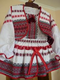Костюм в українському стилі тканий для дівчинки фото