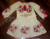 """Платье-вышиванка для девочки - """"Цветочное"""""""