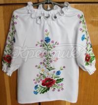 Вишита блузка на дівчинку