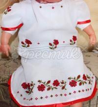 """Платье с вышивкой на девочку """"Розочки"""" фото"""