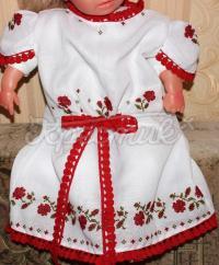 Сукня вишиванка з бантиком на дівчинку фото