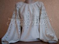 """Украинская женская вышиванка """"серый лен"""" фото"""