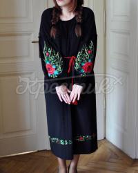 """Платье вышиванка """"Шелковые маки""""  фото"""