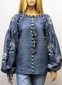 Бохо блузка з трояндами фото