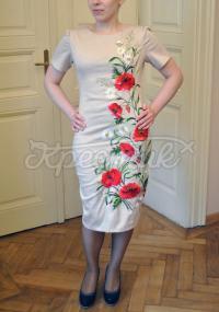 """Украинское платье с художественной вышивкой """"Цветочное танго"""" фото"""