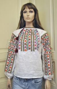 """Женская вышитая блузка-косоворотка """"Румынские мотивы"""" фото"""