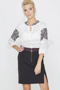 Сорочка з принтом у вигляді геометричного орнаменту фото