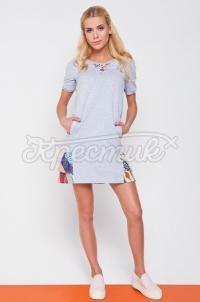 Украинское платье вышиванка трикотажное