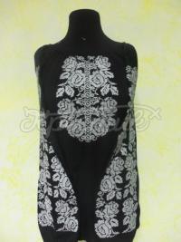 """Женская вышиванка черная """"Сокальские розы"""" фото на сайте"""