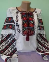 """Женская борщевская вышиванка """" Радужная роза"""" фото"""