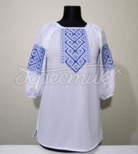 Жіноча блузка лічильною гладдю на шифоні купити Київ