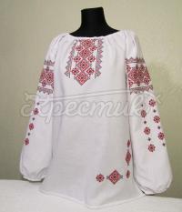 Жіноча вишиванка з ошатною вишивкою купити Київ